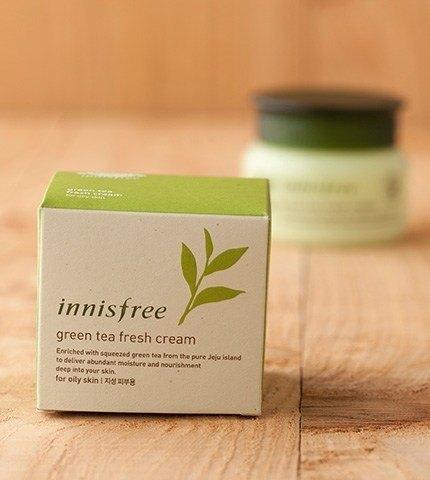 innisfree green tea fresh cream-3