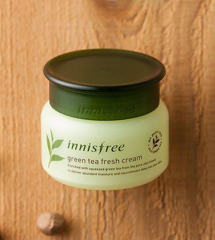 innisfree green tea fresh cream-2