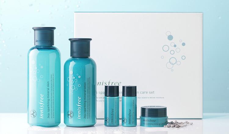 Jeju sparkling mineral skin care set-1