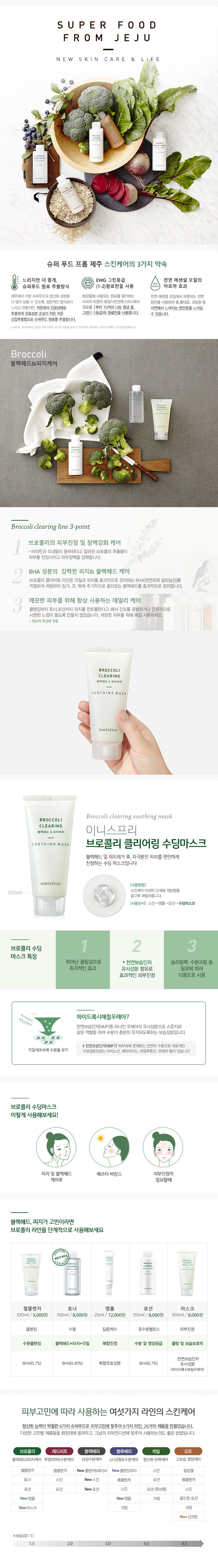 INNISFREE BROCCOLI CLEARING SOOTHING MASK