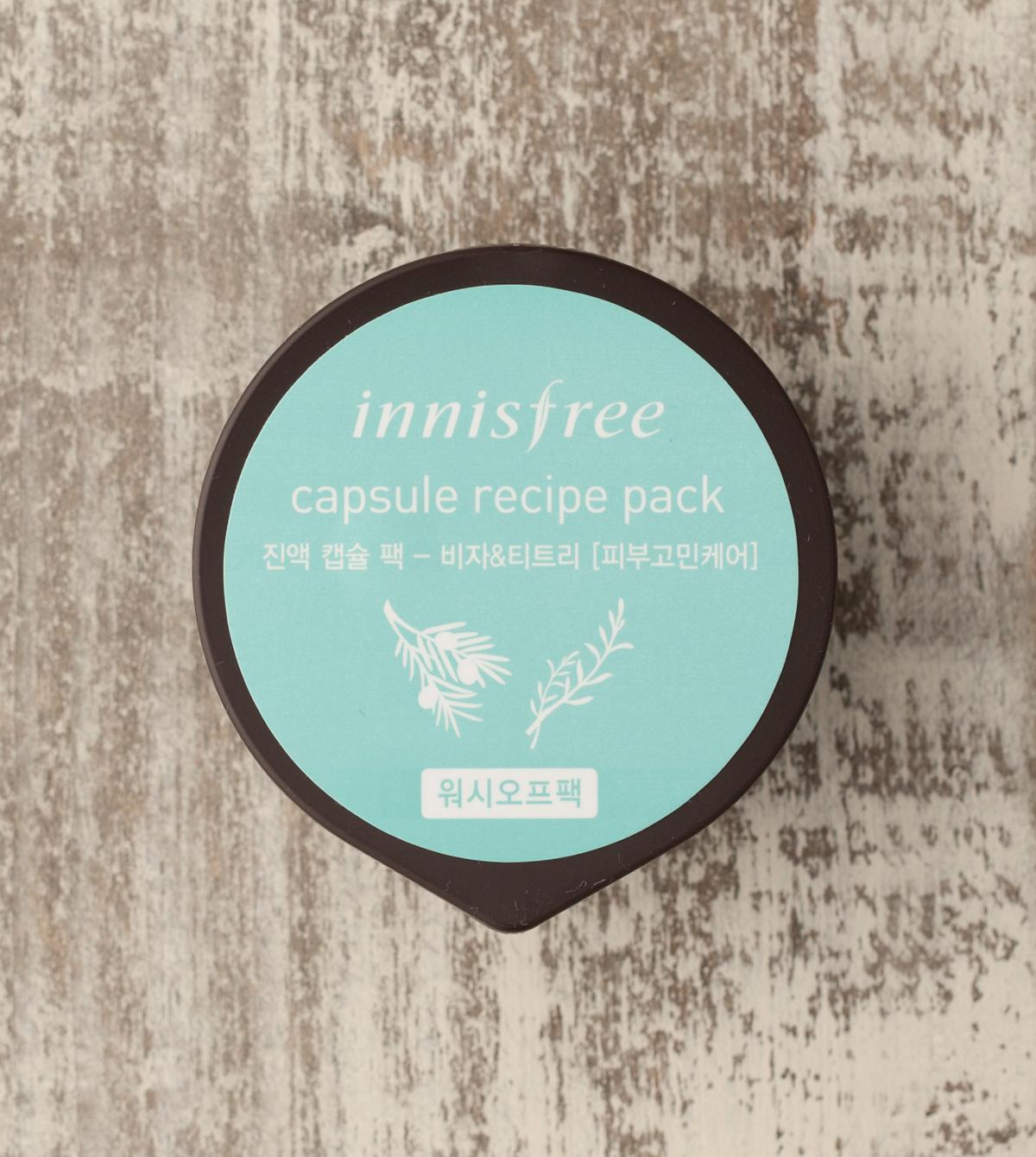INNISFREE CAPSULE RECIPE PACK-bija & tea tree